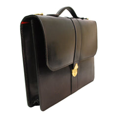 District Document Case, BESPOKE | Slim Briefcase | Hand Stitched | English Leather | Sterling and Burke-Document Case-Sterling-and-Burke