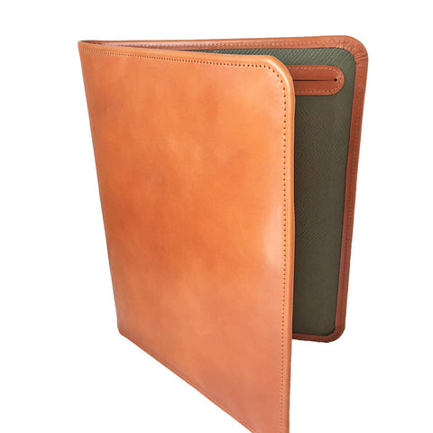 Hand Stitched Pad Cover | English Bridle Hide | Dark London Tan | Made in England | Sterling and Burke-Pad Cover-Sterling-and-Burke