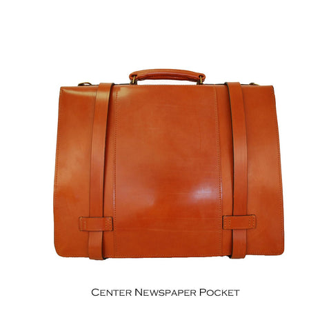 Large Triple Gusset Strap Around, BESPOKE | Dispatch Briefcase | Hand Stitched | English Bridle Leather | Sterling and Burke-Document Case-Sterling-and-Burke
