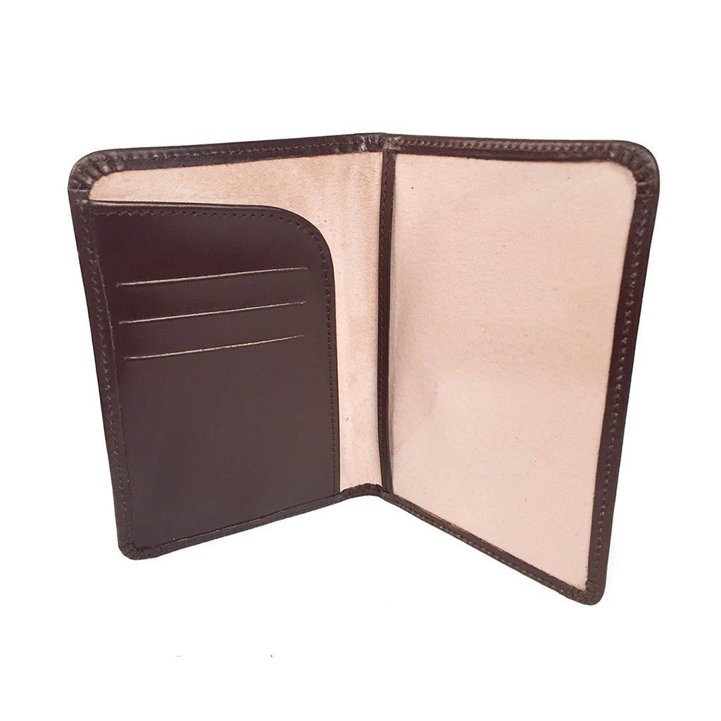 Passport Cover | Bridle Leather and Suede Lining | Red, Black, Brown, Burgundy | Made in England | Sterling and Burke-Passport Case-Sterling-and-Burke