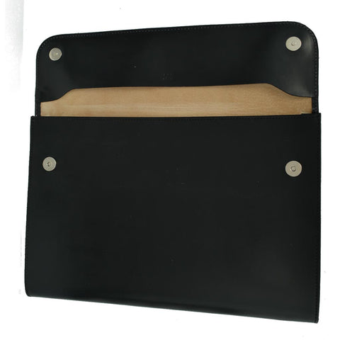 Flap Over Portfolio | Magnetic Closure | English Bridle with Suede | Tan, Brown, Black | Made in England-Portfolio-Sterling-and-Burke
