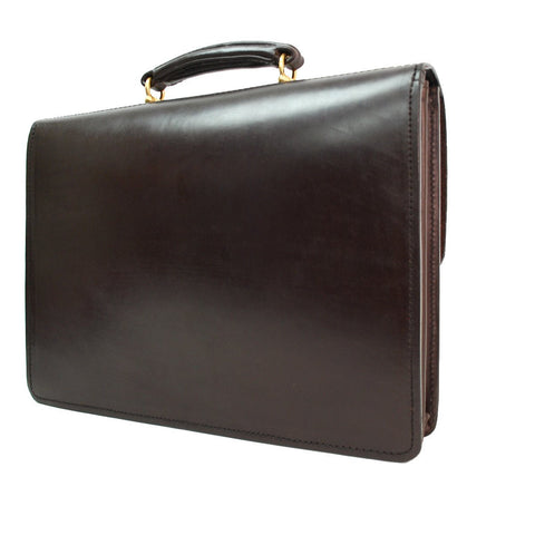 Executive Flap Over Document Case, Havana-Document Case-Sterling-and-Burke