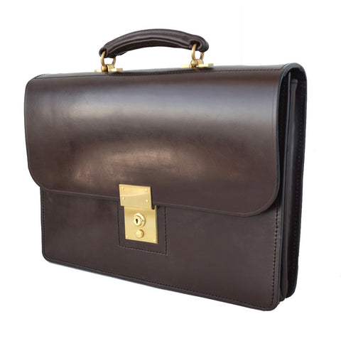 Executive Flap Over Document Case, BESPOKE | Thin Briefcase | English Leather
