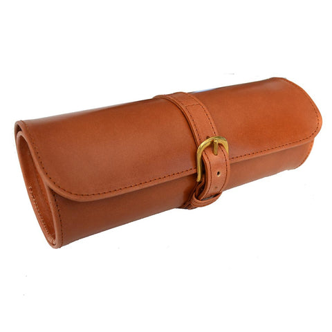 Travel Watch Roll | English Bridle Leather and Suede | Tan, Brown, Black | Sterling and Burke-Watch Roll-Sterling-and-Burke