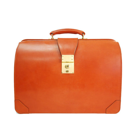 Top Frame Briefcase, BESPOKE | English Bridle | Hand Stitched in England | Sterling and Burke