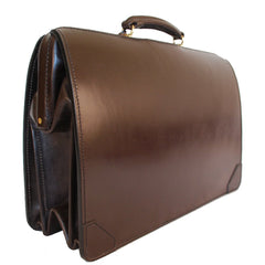 Top Frame Briefcase, Havana | Document Briefcase | Hand Stitched | Dark Brown English Bridle Leather | Sterling and Burke-Top Frame-Sterling-and-Burke