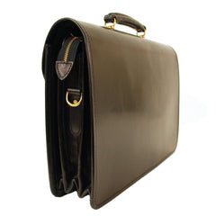 Large Laptop Briefcase, BESPOKE | Computer and Document Case | Hand Stitched | English Bridle Leather | Sterling and Burke-Computer Bag-Sterling-and-Burke