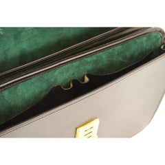 Laptop Briefcase, BESPOKE | Computer and Document Case | Hand Stitched | English Bridle Leather | Sterling and Burke-Computer Bag-Sterling-and-Burke
