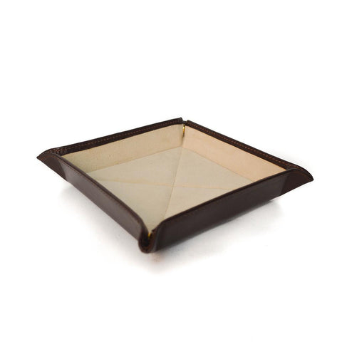 Travel Tray | Dresser Valet | English Bridle Leather | Tan, Brown, Black | Sterling and Burke
