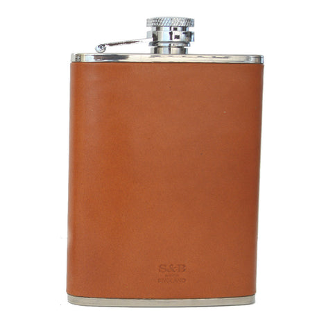 6 oz Leather Flask-Flask-Sterling-and-Burke