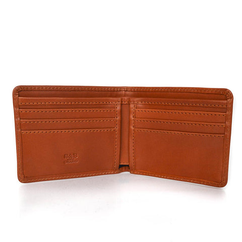 Thin Billfold | Hip Wallet | 6 Card Bi-Fold | Tan, Brown, Black Bridle Leather | Sterling and Burke
