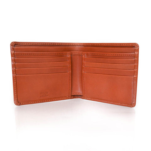 Medium Billfold | Hip Wallet | English Bridle Leather Bi-Fold | 8 Cards | Tan | Black | Sterling and Burke
