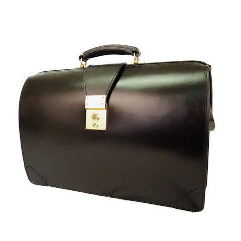 Top Frame Briefcase, Black-Top Frame-Sterling-and-Burke