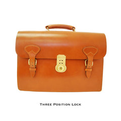 Triple Gusset with Short Straps, BESPOKE-Document Case-Sterling-and-Burke