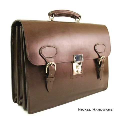 Sterling & Burke Triple Gusset with Short Straps, BESPOKE-Document Case-Sterling-and-Burke