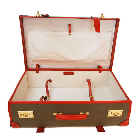 Canvas Trunk Suitcase, 21 Inch, BESPOKE | Wheels and Trolley | Hand Stitched | Sterling and Burke-Suitcase-Sterling-and-Burke