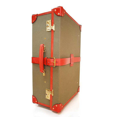 Canvas Trunk Suitcase, 18 Inch, BESPOKE | Wheels and Trolley | Hand Stitched | Sterling and Burke