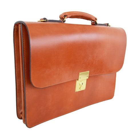 Twin Gusset Document Case, Dark London Tan-Document Case-Sterling-and-Burke