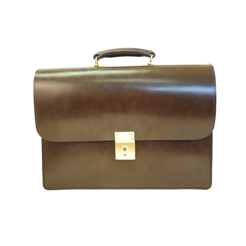 Twin Gusset Document Case, Havana