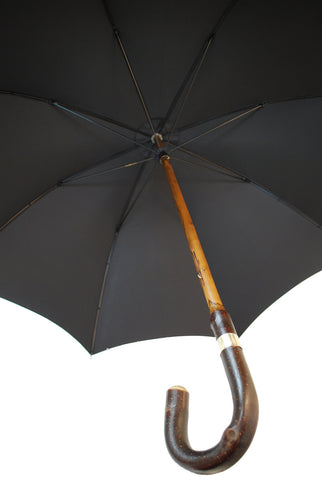 Bark Chestnut Gent's Umbrella, BESPOKE-Gent's Umbrella-Sterling-and-Burke