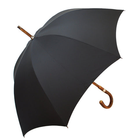Polished Chestnut Gent's Umbrella-Gent's Umbrella-Sterling-and-Burke