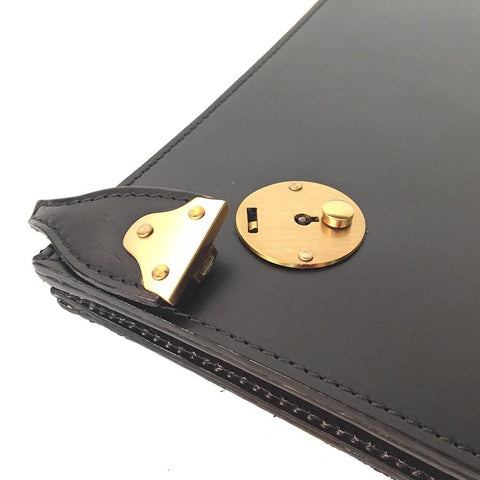 Zip Around Portfolio with Lock | Bridle Hide | Hand Made in England | Tan, Brown, Black | Sterling & Burke Ltd-Portfolio-Sterling-and-Burke