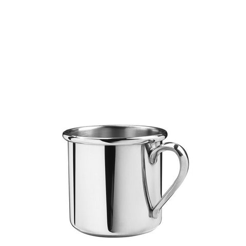 Baby Cup | Straight Edge Baby Cup with Handle | 5 oz. | Solid Pewter | Made in USA | Sterling and Burke-Baby Cup-Sterling-and-Burke