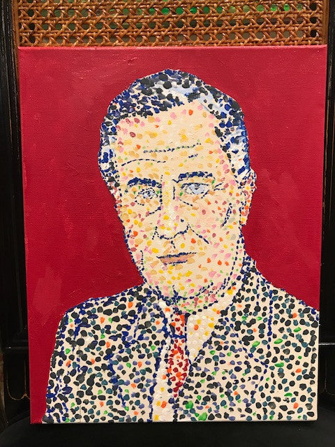 FDR, Original Acrylic on Canvas, 11 by 14 inches
