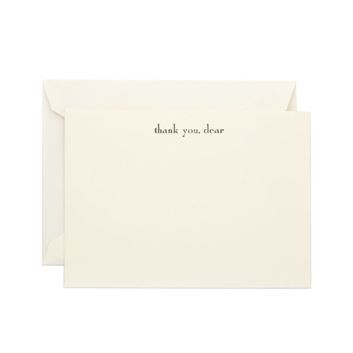 """Thank You, Dear"" 