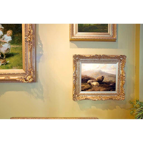 Antique Oil Painting | Highland Sheep by Thomas Sidney Cooper | 27 by 30.5 Inches-Oil Painting-Sterling-and-Burke
