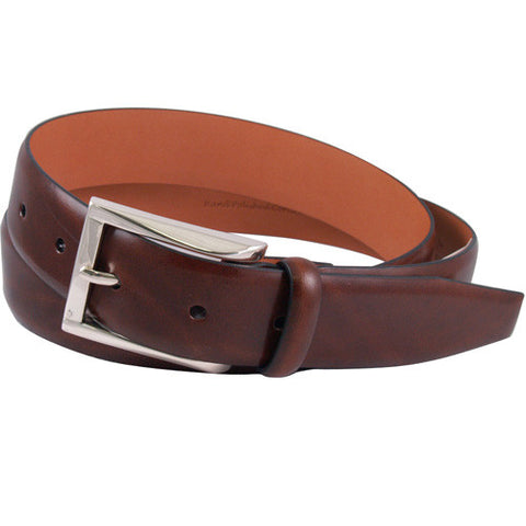 Broderick Leather Belt, Honey Maple