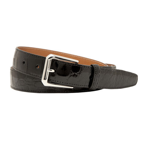 Classic Alligator Belt, Black