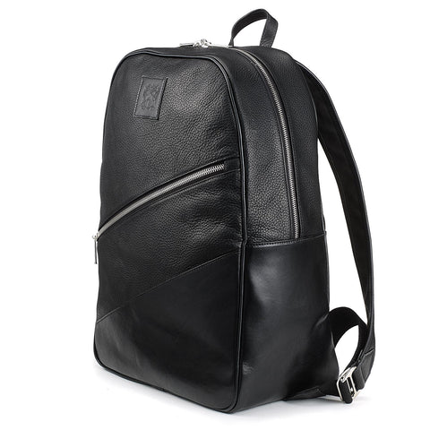 Tusting Clifton Leather Backpack in Black-Business Bags-Sterling-and-Burke
