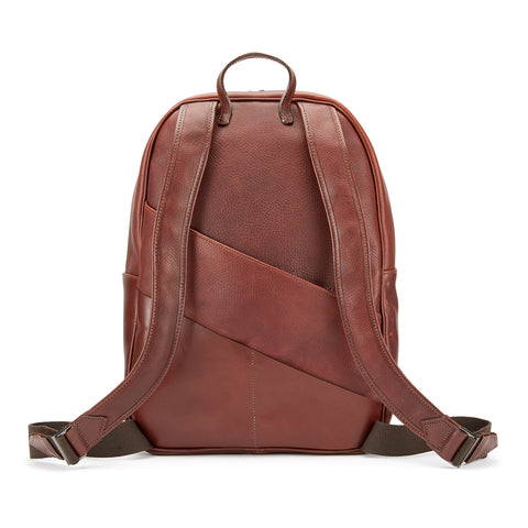 Tusting Clifton Leather Backpack in Chestnut-Business Bags-Sterling-and-Burke