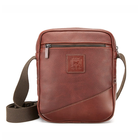 Nimrod Leather Cross-Body Bag | Available in Various Colors | Tusting | Made in England