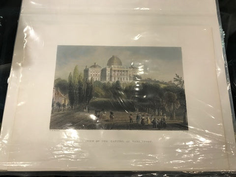 View of the Capitol at Washington Print, 11 by 8 Inches-Print-Sterling-and-Burke
