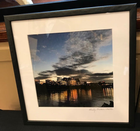 "View From Georgetown Harbor | Photograph by Wendy Plotkin-Mates | 12"" by 12"""