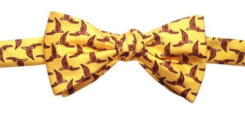 """Spread Eagle"" Silk Bow Tie by Lazy Jack Press"