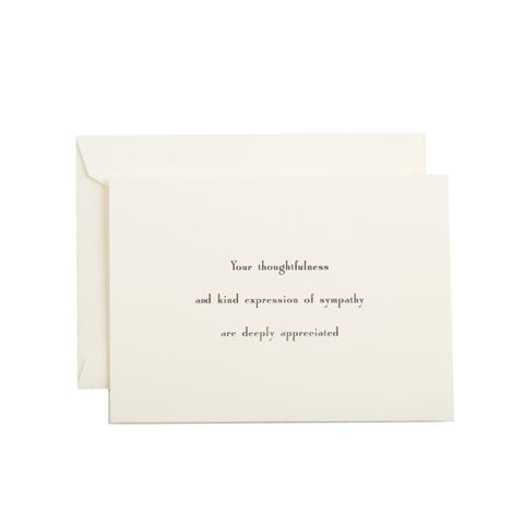 """Your Thoughtfulness"" Sympathy Stationery Set, Ecru"