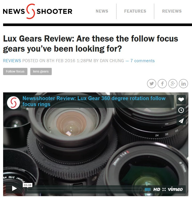Lux Gear Newsshooter review