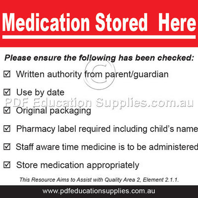 Correct storage of medication