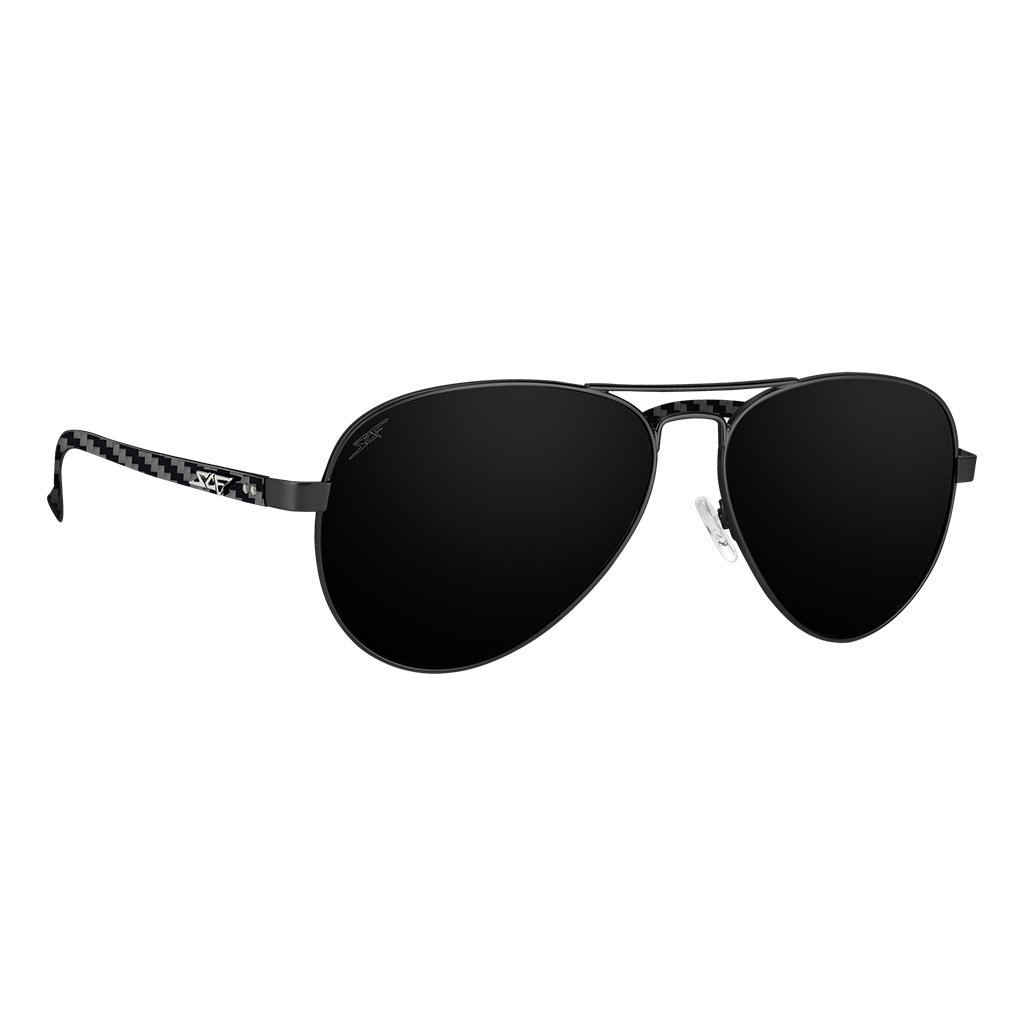 ●MONTANA● Real Carbon Fiber Sunglasses (Polarized Lens | Carbon Fiber Temples | Black)