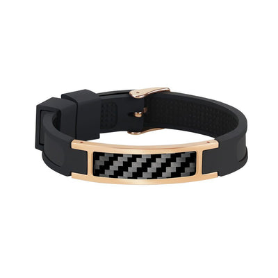 Real Carbon Fiber Bracelet (ROSE GOLD)