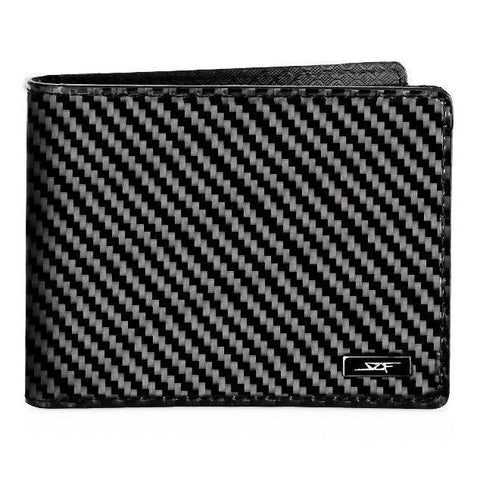 Real Flexible Carbon Fiber Bi-Fold Wallet