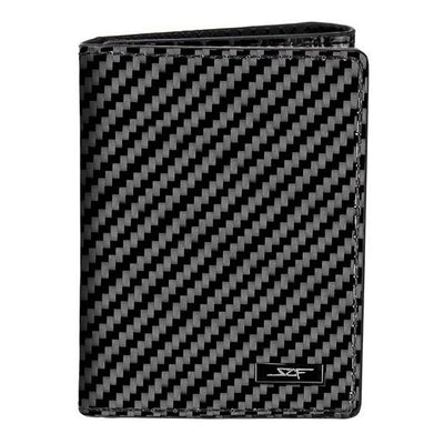 Real Flexible Carbon Fiber Tri-Fold Wallet