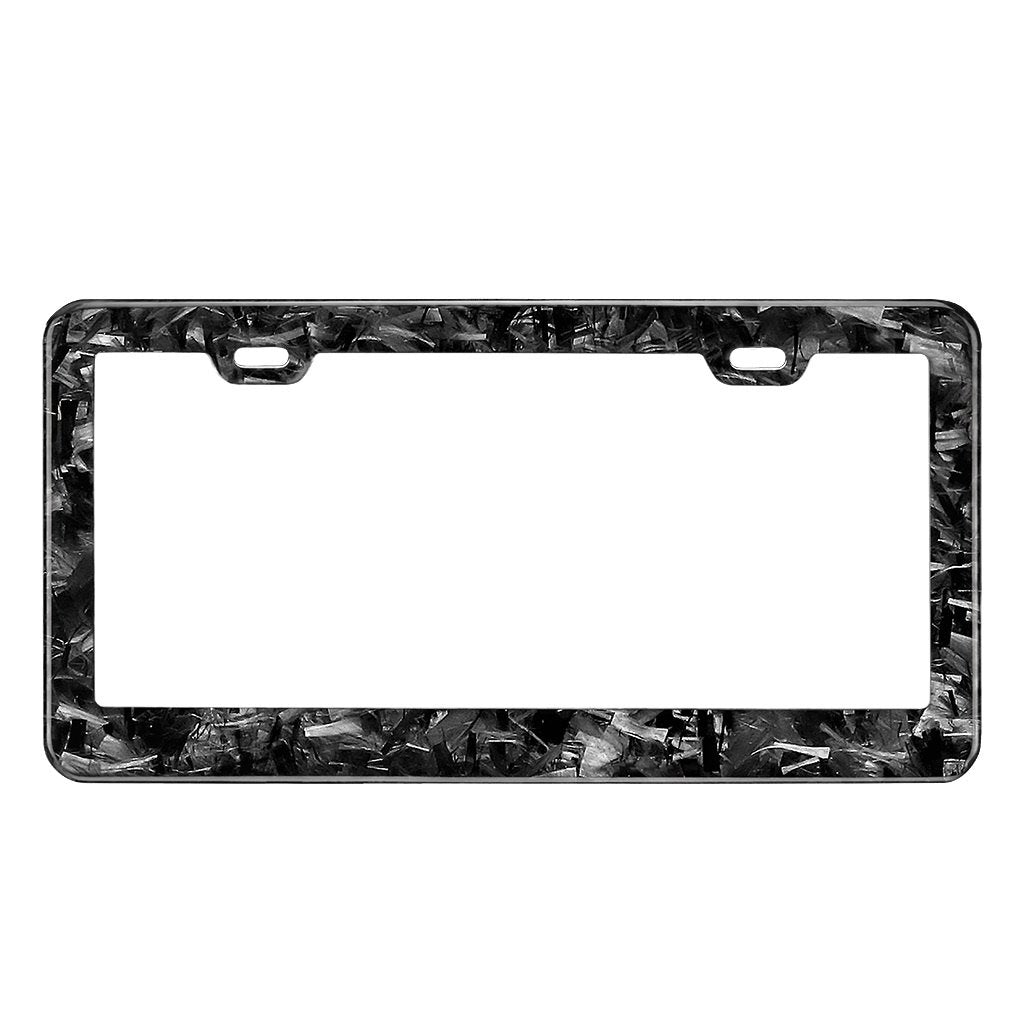 Real Forged Carbon Fiber License Plate Frame