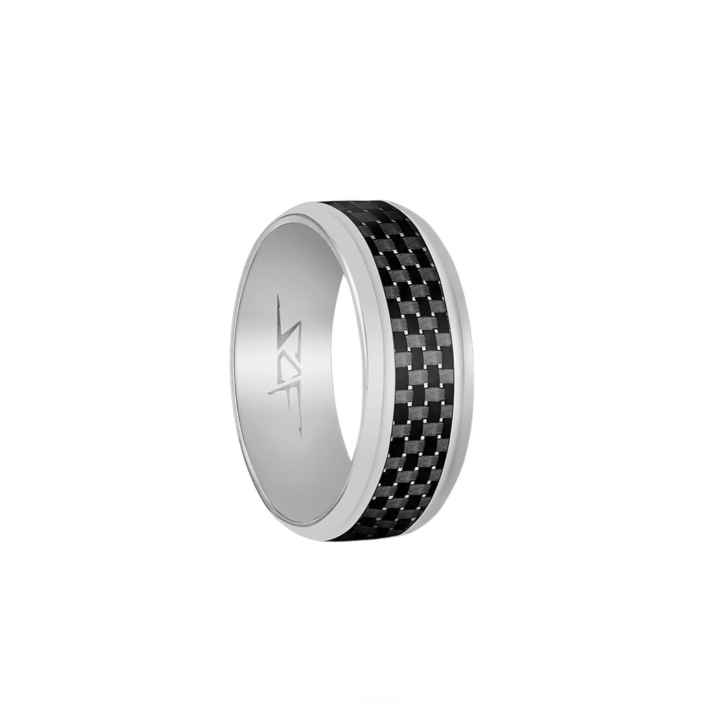 ●SLATE● Real Carbon Fiber Ring (SILVER)