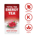 Total Tea's Herbal Energy Tea is Gluten-Free, Organic, and Kosher-Certified
