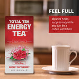 Total Tea's Herbal Energy Tea Helps Suppress Appetite and Can Be a Coffee Substitute