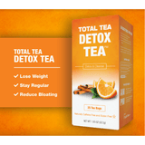 Total Tea Herbal Tea Default Gentle Detox Tea - Reduce Bloating & Constipation - Promote Weight Loss - 25ct